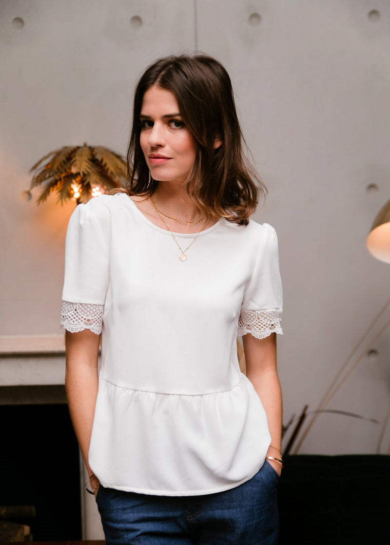 Amour Blouse - White