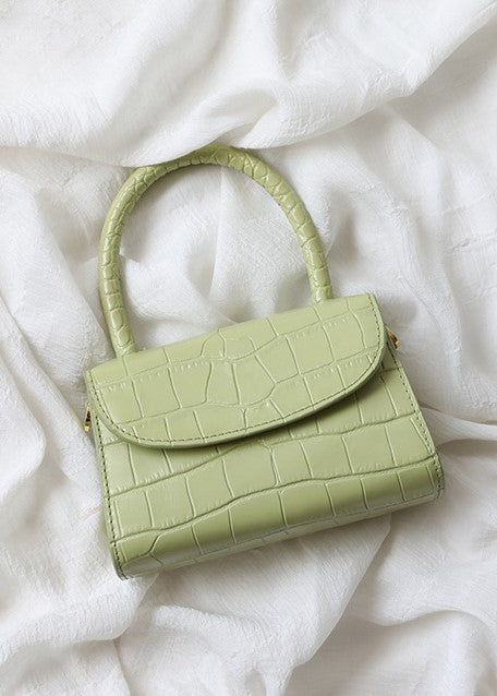 The Mini Croco Bag - Pistachio