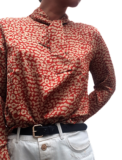 The Ajaccio Blouse - Red
