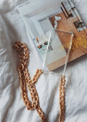 Iphone Case Necklace Beige