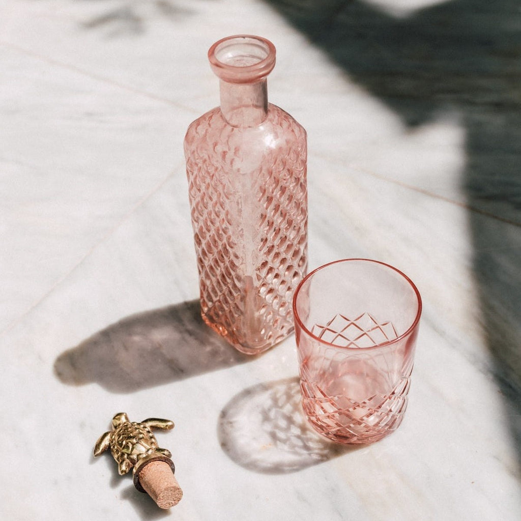 Square bottle Pink