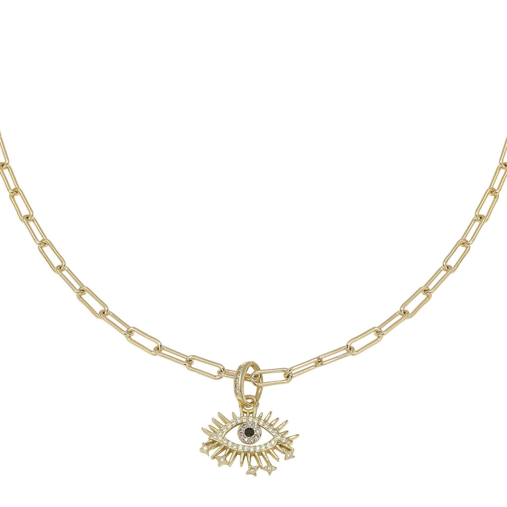 Curious Eye Zirconia Necklace