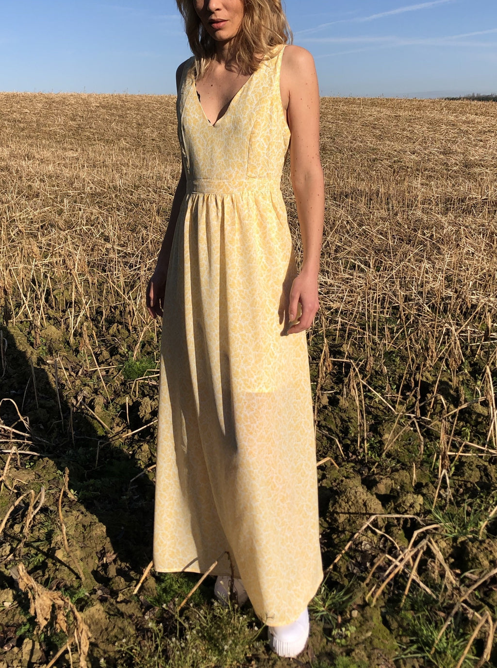 Anil Maxi Dress - Yellow