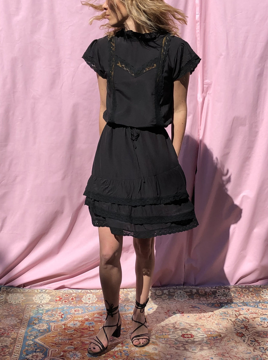 The Bari Mini Dress - Black