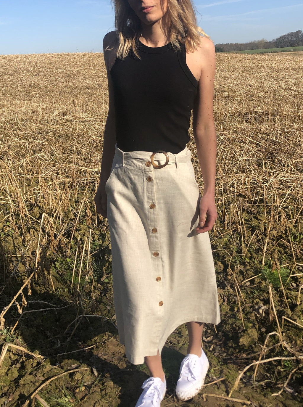 The Gir Linen Skirt