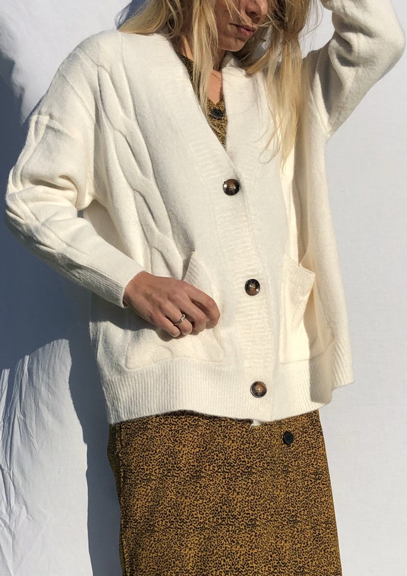 The Vienna Cardigan - Beige