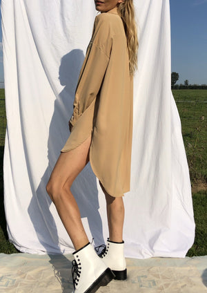 Extra Long Shirt Poppy Beige