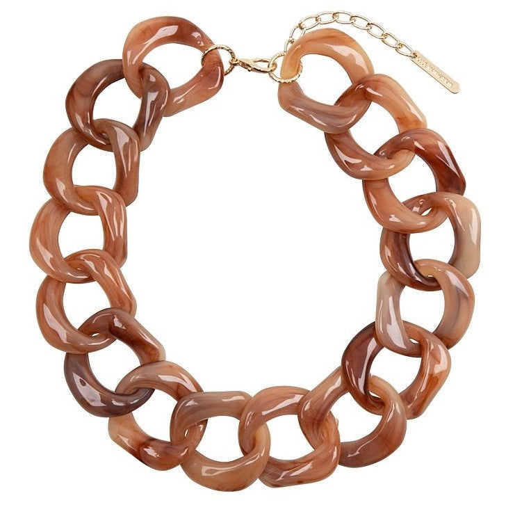 Tortoise Chain Necklace - Light Brown