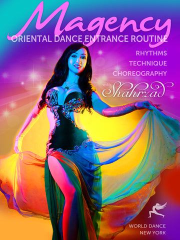 Egyptian magency belly dance show entrance routine, advanced instant video class for professional dancers