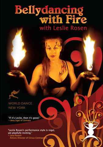 Belly Dancing with Fire: Hand-held Candles & Palm Torches Belly Dance