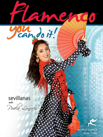 Spanish fan dance, sevillanas dance moves, footwork, steop-by-step, flamenco dancing instant video