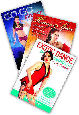 3-DVD lot, Sexy Dance Sampler Instructional DVDs from World Dance New York