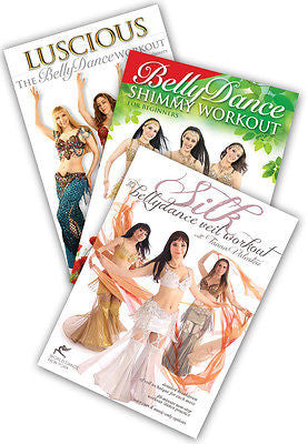 3-DVD lot, Belly Dance Fitness Sampler: Workout DVDs from World Dance New York
