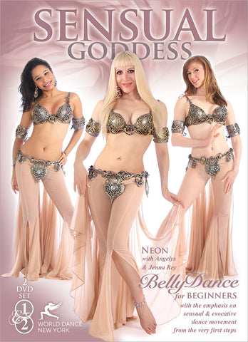 """Sensual Goddess: Belly Dance for Beginners with Neon"" 2-DVD bellydance"