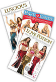 3-DVD lot, Belly Dance Workouts in Neon's format: Great DVDs from World Dance NY