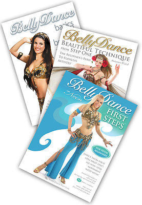 3-DVD lot, Absolute Beginner Belly Dance Instructional DVDs from World Dance NY