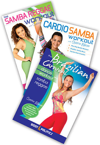 Brazilian Samba Fitness & Instruction 3-DVD Set