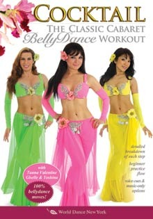 """Cocktail: The Classic Cabaret Belly Dance Workout DVD, Tanna Valentine"
