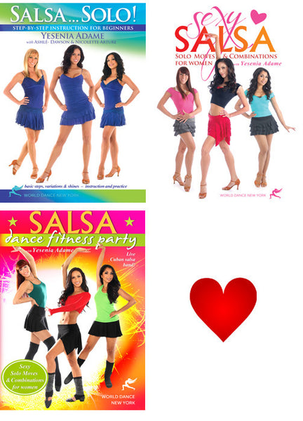 Salsa Solo for Women - Instruction & Fitness Streaming Video Bunch 1 Year Rental