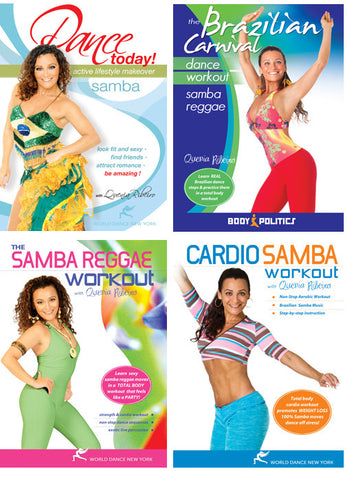 Brazilian Samba Instruction and Fitness Streaming Video Bunch 1 Year Rental