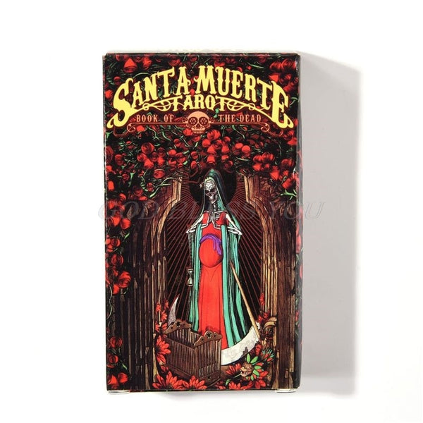 78pcs Cards Santa Muerte Tarot Deck Book of the Dead Family Party Board Game Drop Shipping