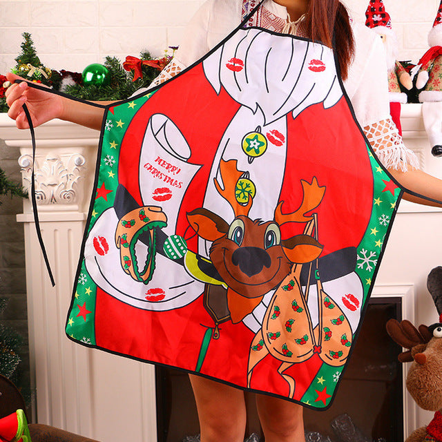 Merry Christmas Novelty Cooking Kitchen Apron - Kitchendreamz-Top-Kitchen-tools-Kitchen-Gadgets