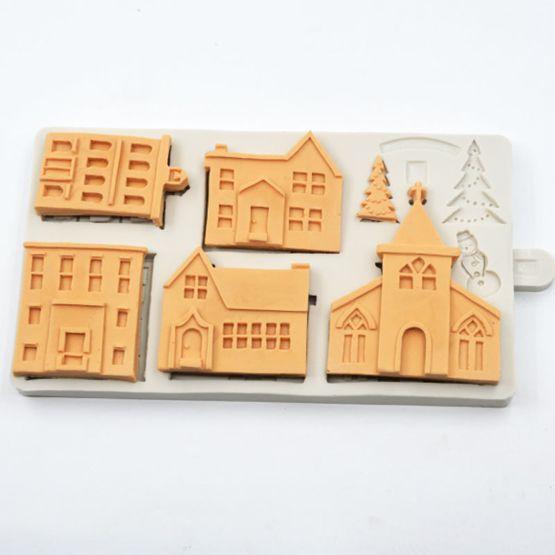 Christmas Gingerbread House Silicone Mold - Kitchendreamz-Top-Kitchen-tools-Kitchen-Gadgets