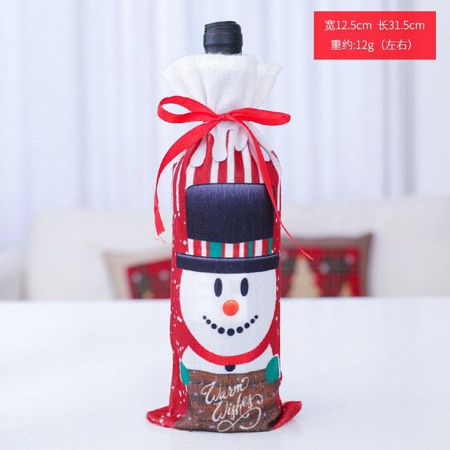 Christmas Wine Bottle Bag Cover - Kitchendreamz-Top-Kitchen-tools-Kitchen-Gadgets