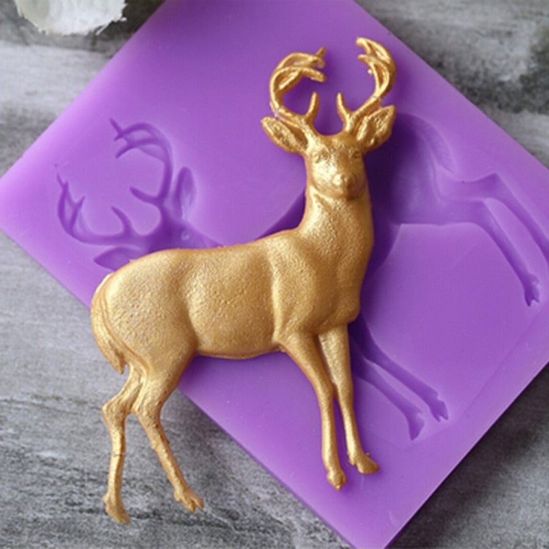 Christmas DIY Deer Pattern Silicone Mold - Kitchendreamz-Top-Kitchen-tools-Kitchen-Gadgets
