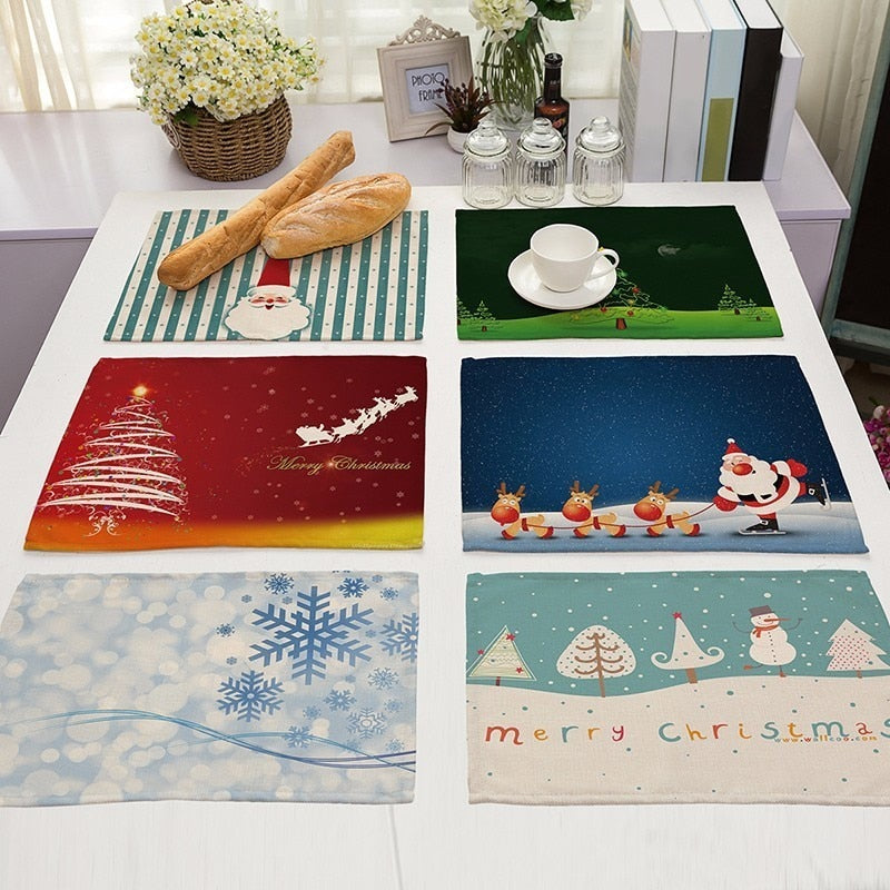 Christmas Pattern Placemat - Kitchendreamz-Top-Kitchen-tools-Kitchen-Gadgets