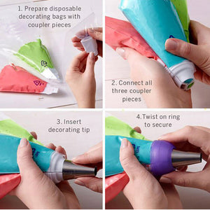 Three-color Icing Piping Nozzle - Kitchendreamz-Top-Kitchen-tools-Kitchen-Gadgets