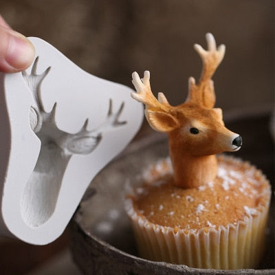 Christmas 3D Deer Silicone Mold - Kitchendreamz-Top-Kitchen-tools-Kitchen-Gadgets