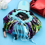 Sequin Drawstring Makeup Bag-Home & Garden-airvog.com-BLUE FLAMINGO-airvog