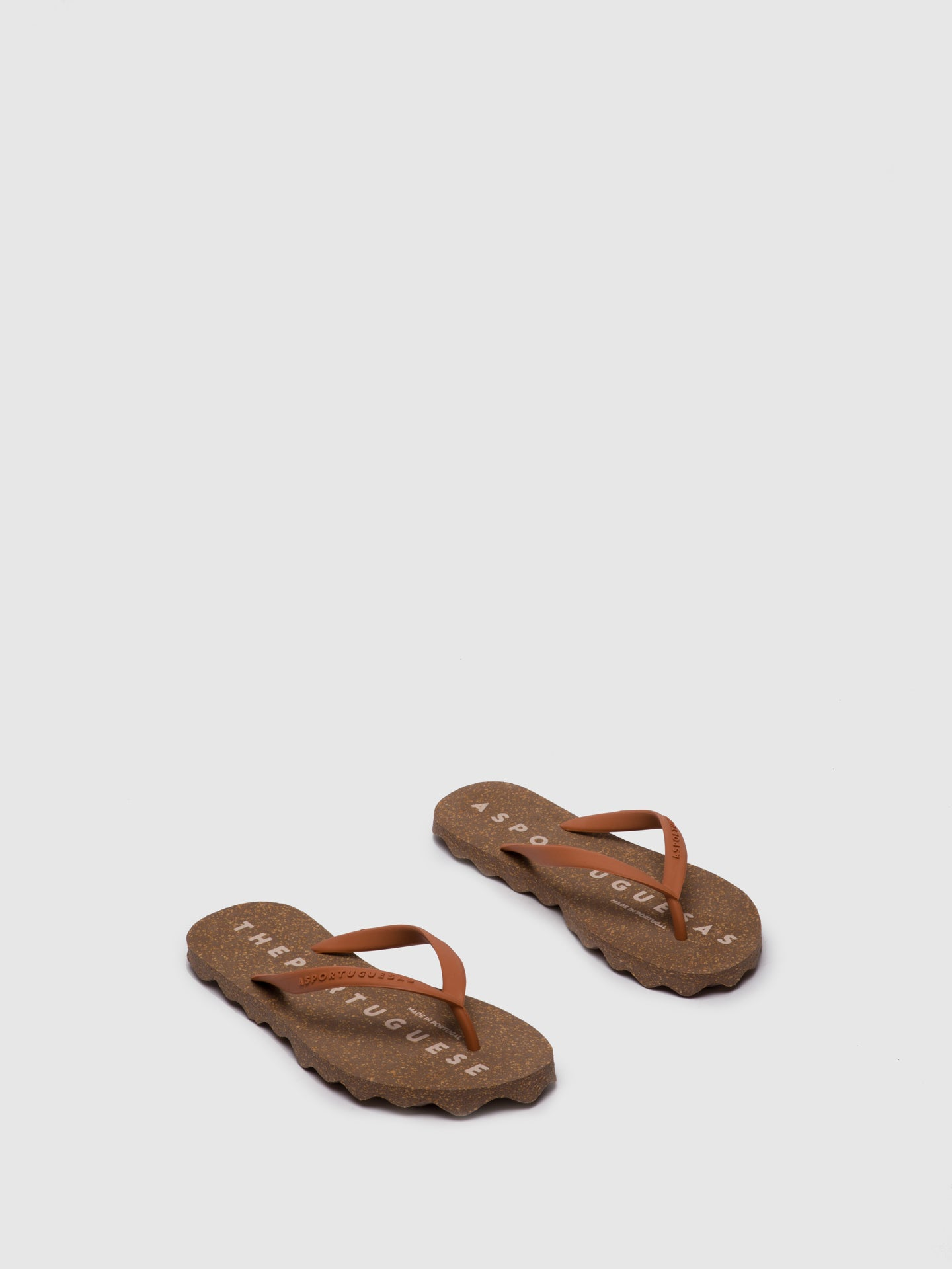 ASPORTUGUESAS Chinelos de Praia BASE_L Brown Rubber Strap