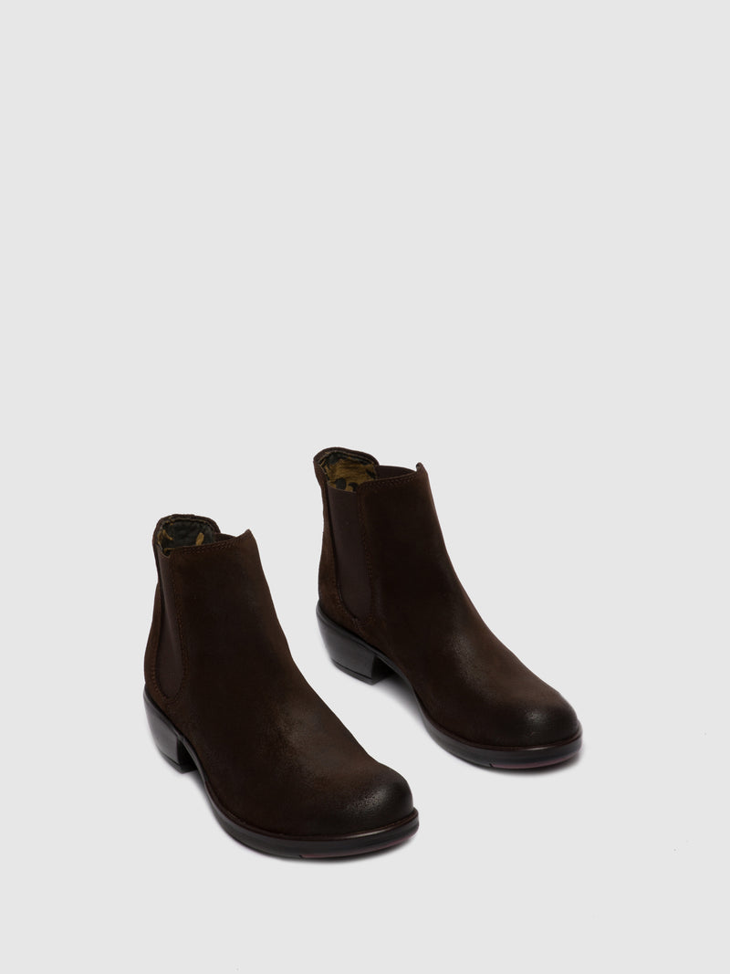 Fly London Botins Chelsea MAKE OILSUEDE BROWN