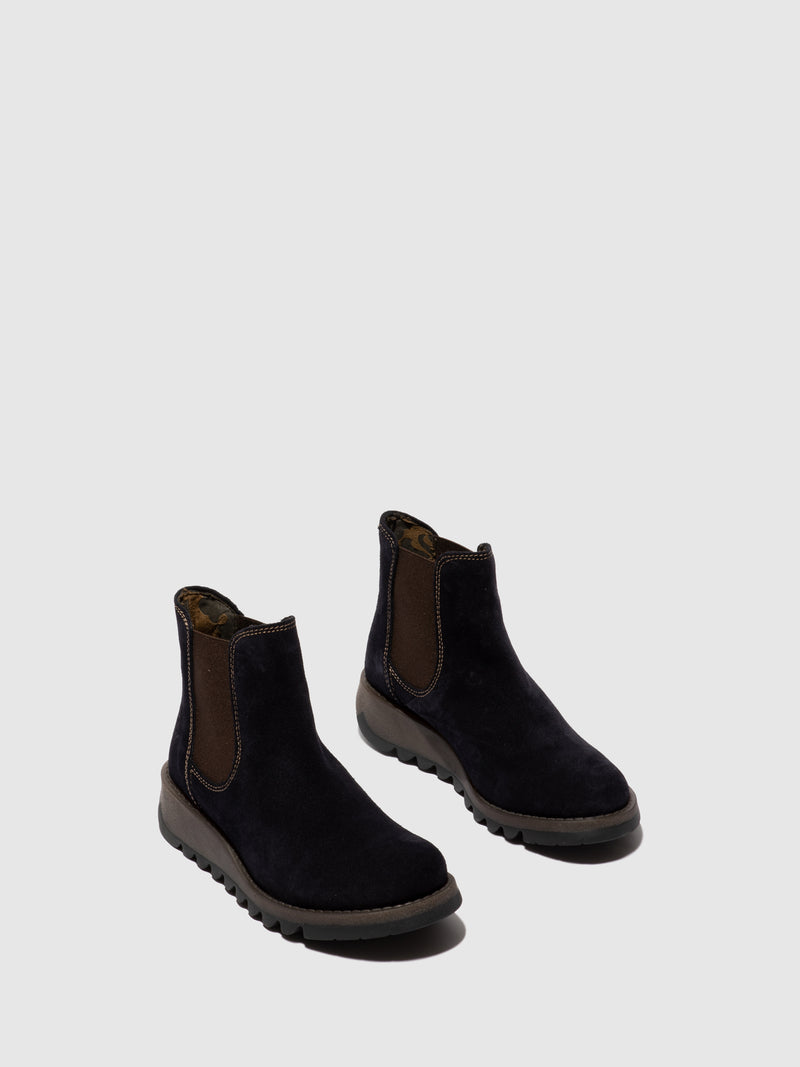 Fly London Botins Chelsea SALV NAVY