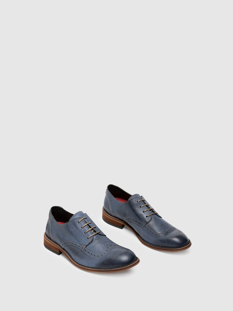 Fly London Sapatos Derby em Azul