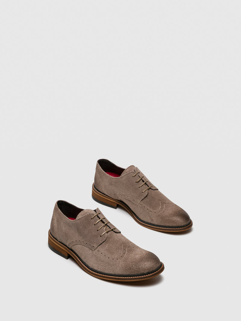Fly London Sapatos Derby em Taupe