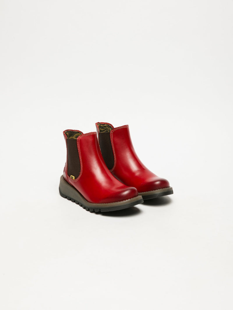 Fly London Botins Chelsea SALV K RED
