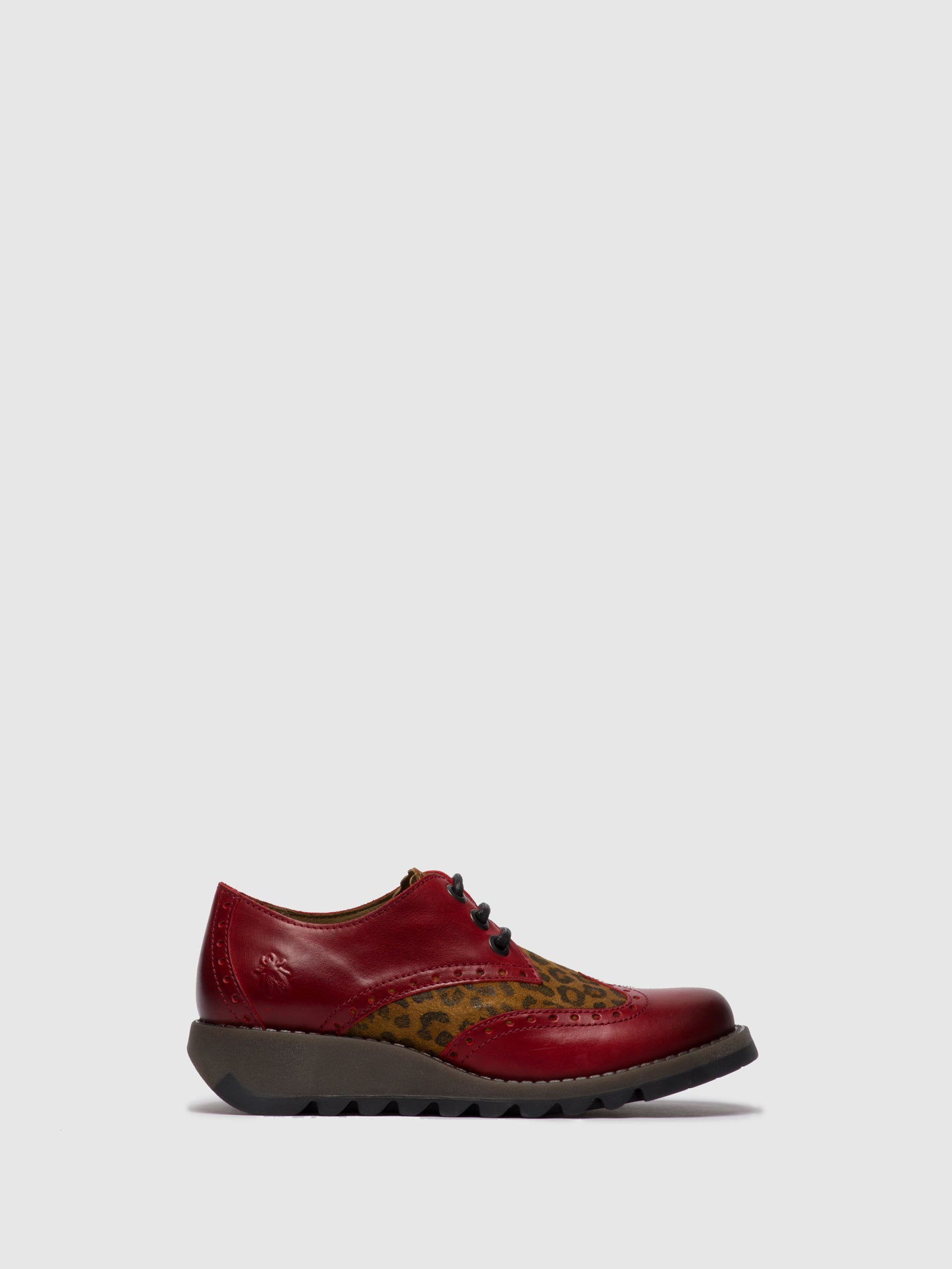 Fly London Sapatos Oxford SUME524FLY RUG/CHEETAH RED/TAN