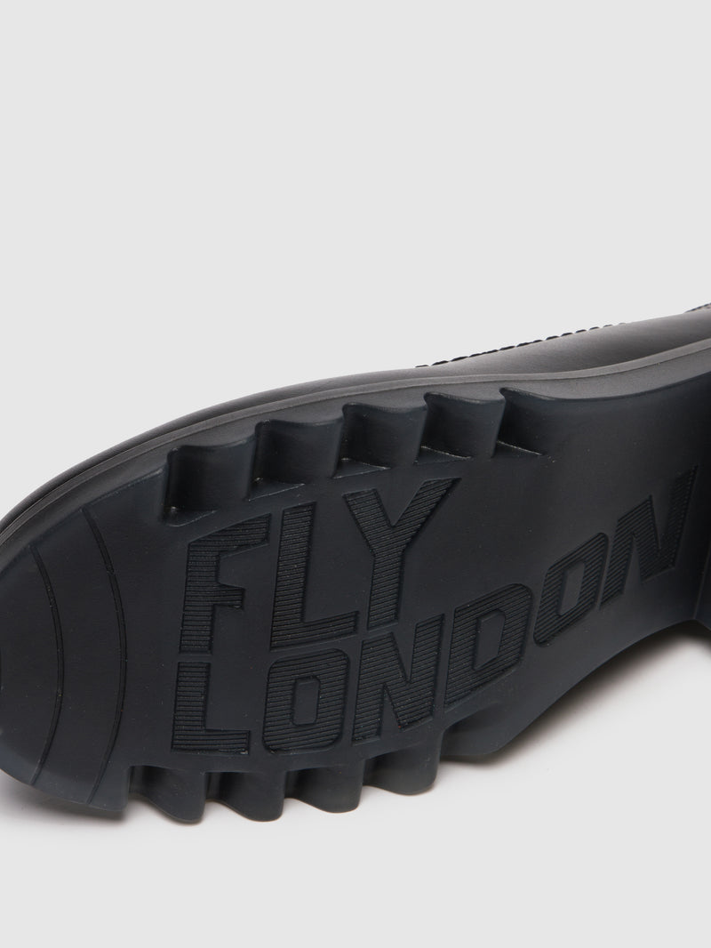 Fly London Sapatos com Ponta Redonda em Preto