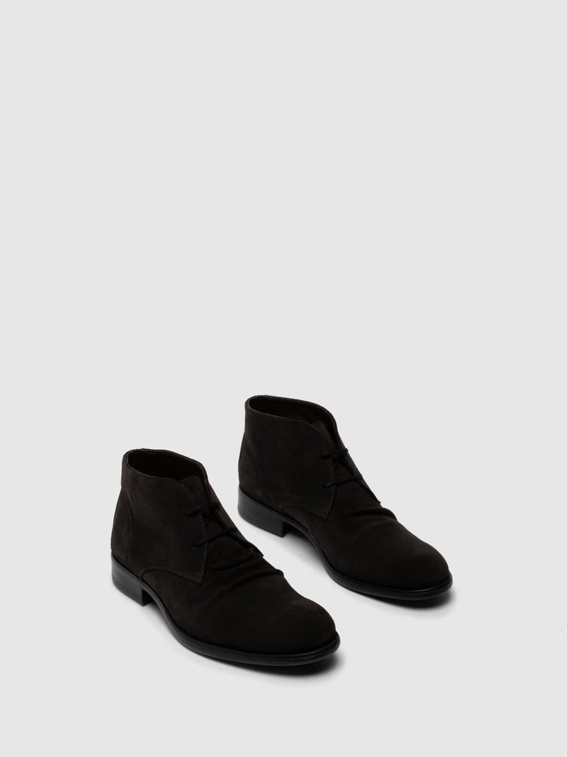 Fly London Botins com Atacadores MURO577FLY OIL SUEDE DIESEL