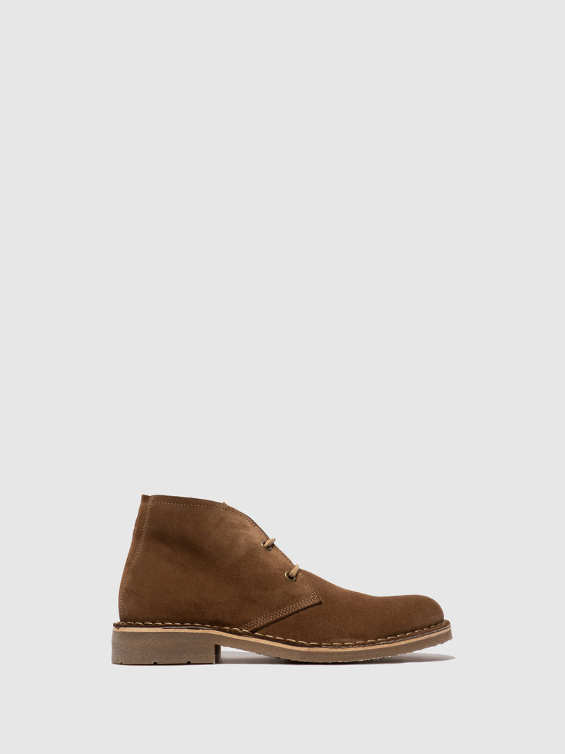 Fly London Botins com Atacadores RHAN038FLY OIL SUEDE  SAND