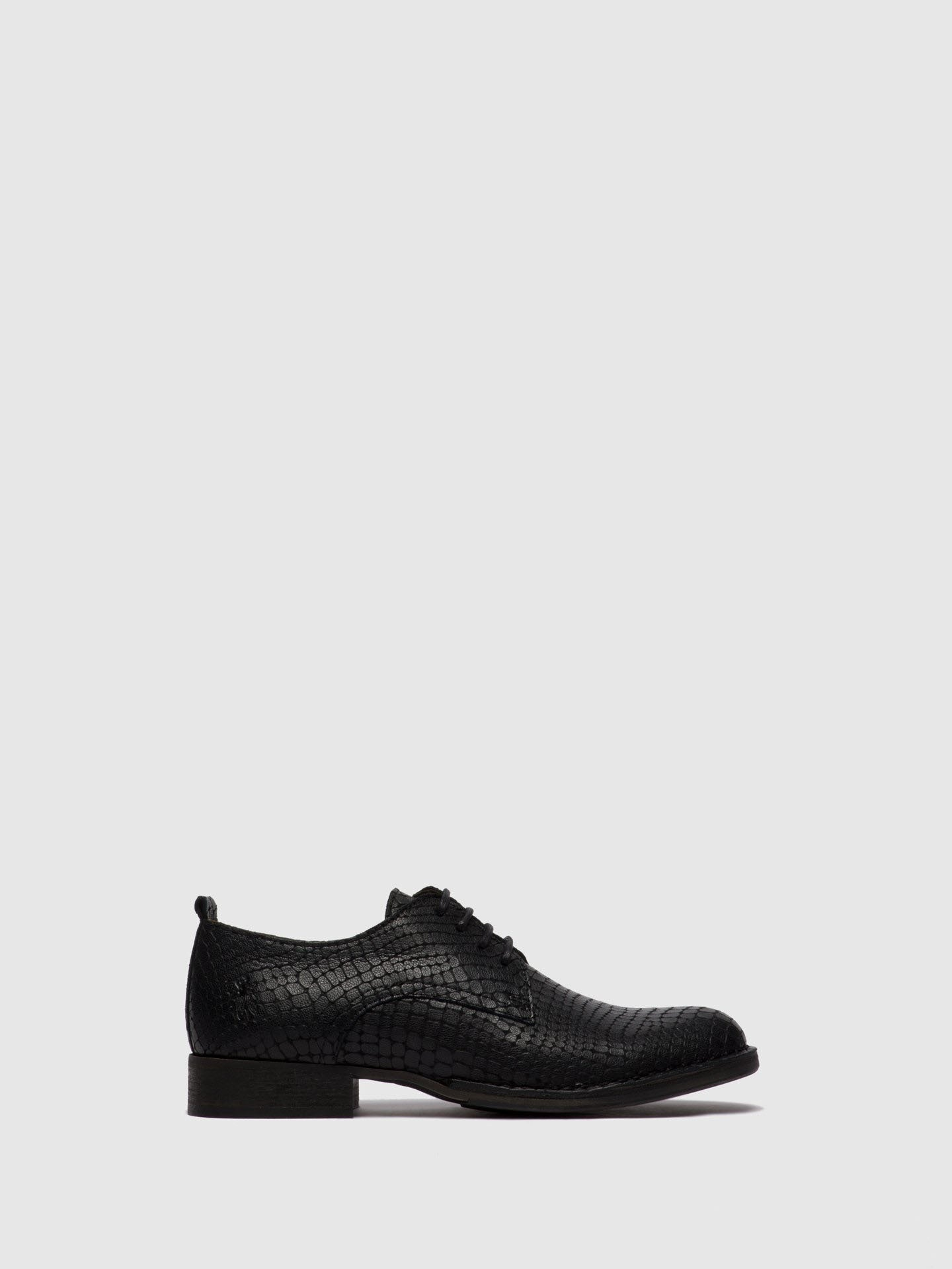 Fly London Sapatos com Atacadores RAFT041FLY CROCO BLACK