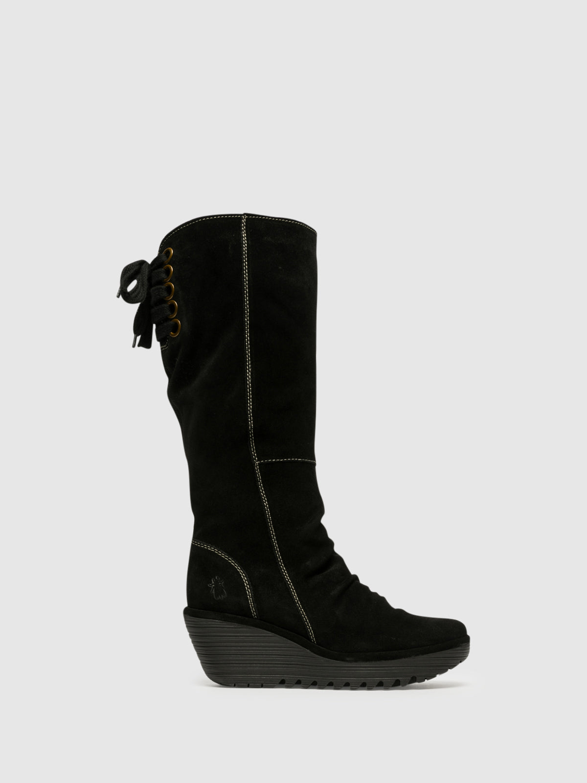 Fly London Botas de Cano-Alto em Preto