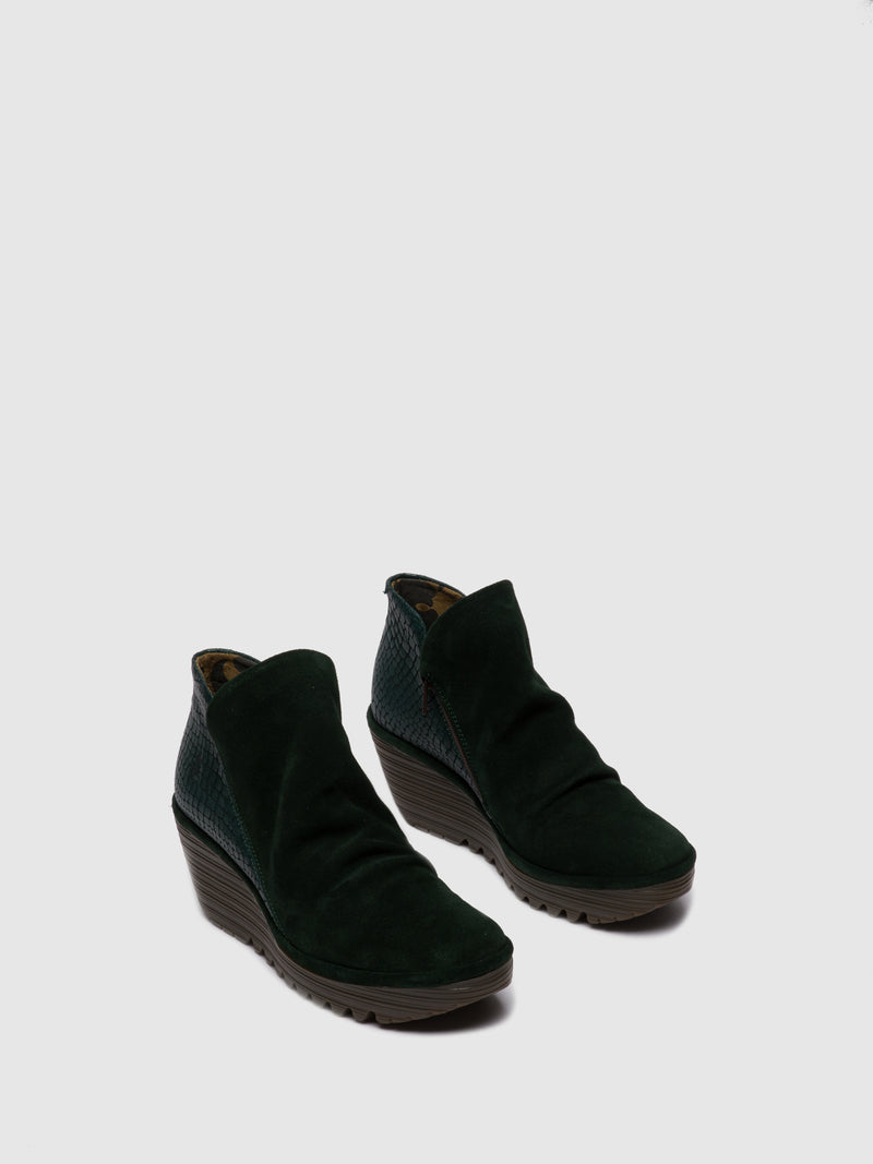 Fly London Botins com Fecho YIP OILSUEDE/CROCO GREEN FOREST