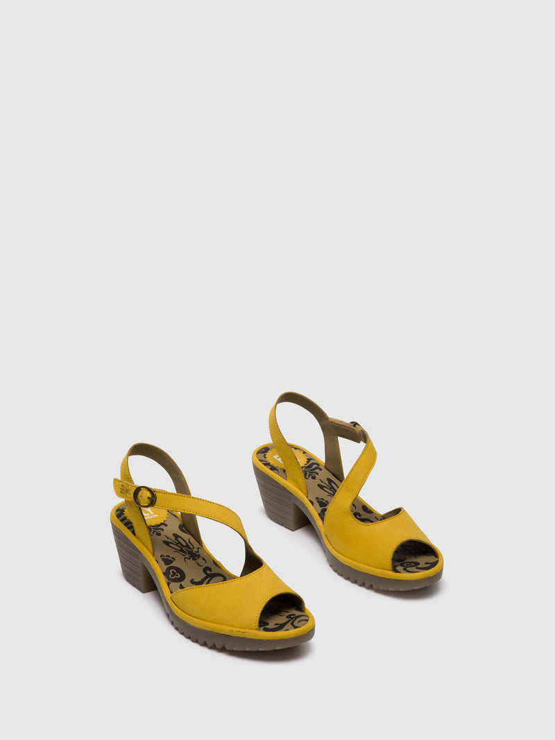 Fly London Sandálias com Velcro WYNO023FLY BRIGHT YELLOW