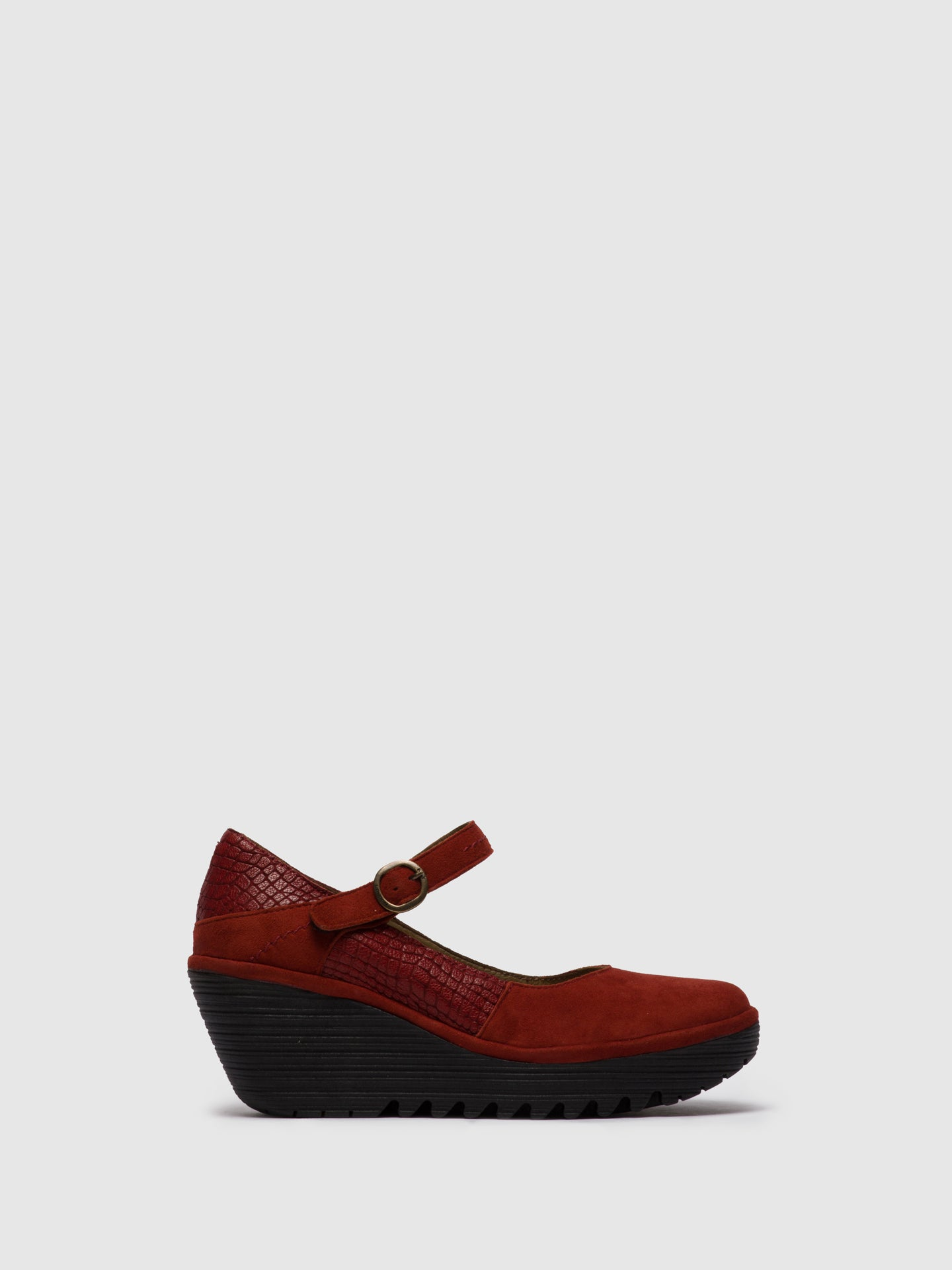 Fly London Sapatos Mary Jane YUKO082FLY SILKY/CROCO RED