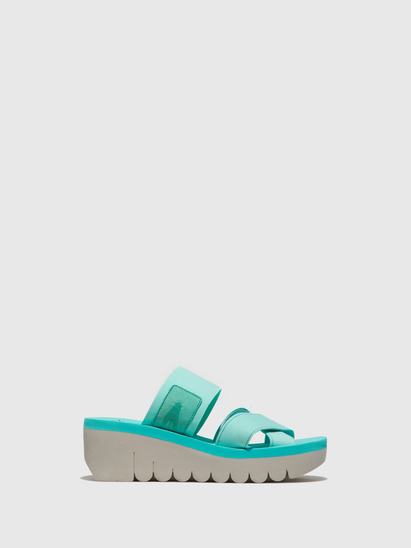 Fly London Mules com Tiras em Verde