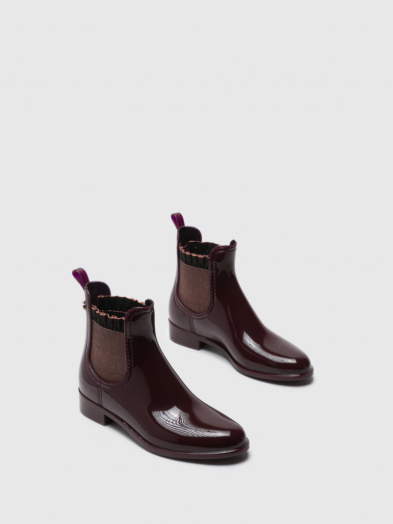 Lemon Jelly Botins Chelsea em Bordeaux